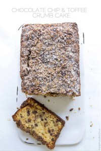 Chocolate Chip Toffee Crumb Cake from Real Food by Dad
