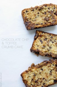 Chocolate Chip Toffee Crumb Cake via Real Food by Dad