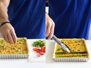 Easy Asparagus Quiche Process Shots Real Food by Dad