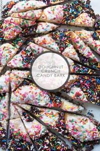 Doughnut Crunch Candy Bark via RealFoodbyDad