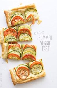 Easy Summer Veggie Tart via Real Food by Dad