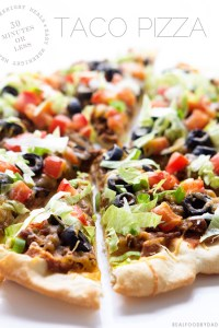 Taco Pizza from Real Food by Dad