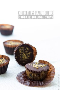 Chocolate and Peanut Butter Cookie Dough Cups