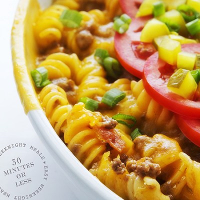 Cheeseburger Casserole via Real Food by Dad