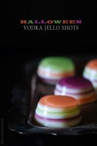 Halloween Vodka Jello Shots via Real Food by Dad