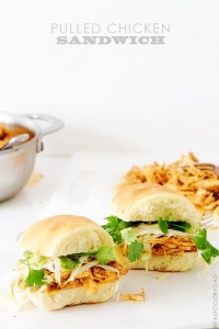 Pulled Chicken Sandwich via Real Food by Dad