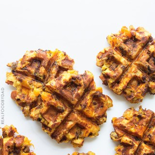 Turkey and Waffles {that's waffled stuffing!}