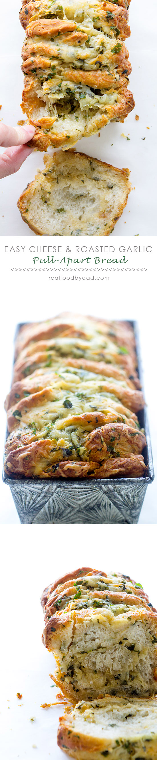 Easy Cheese And Garlic Pull Apart Bread