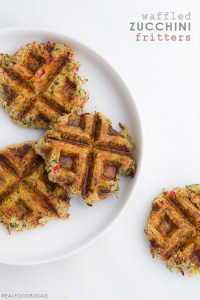 Waffled Zucchini Fritters via Real Food by Dad