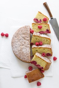 Raspberry and Almond Olive Oil Cake Real Food by Dad