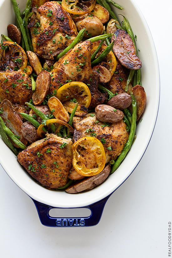 Braised Chicken with Green Beans and Potatoes | Real Food by Dad