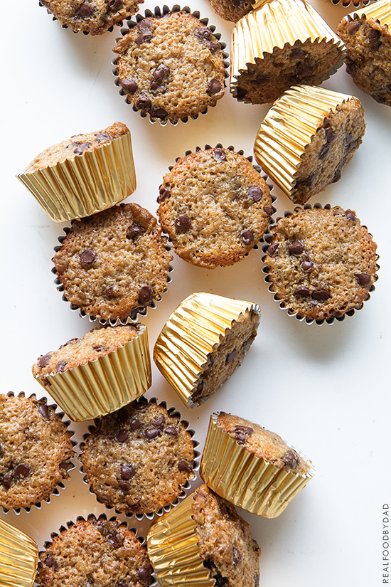 Chocolate Chip Banana Muffins _ Real Food by Dad