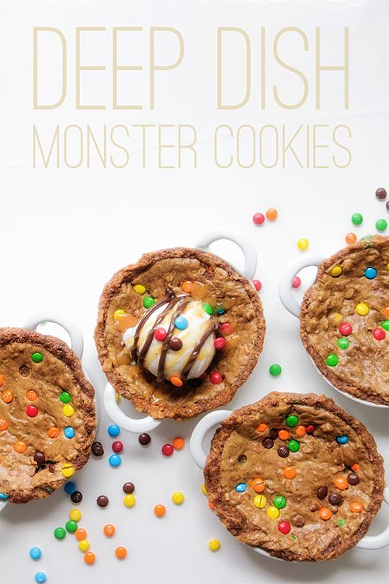 Deep Dish Monster Cookies _ Real Food by Dad