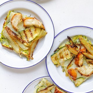 Paper-Thin Zucchini Quiche with Roasted Chicken and Fennel