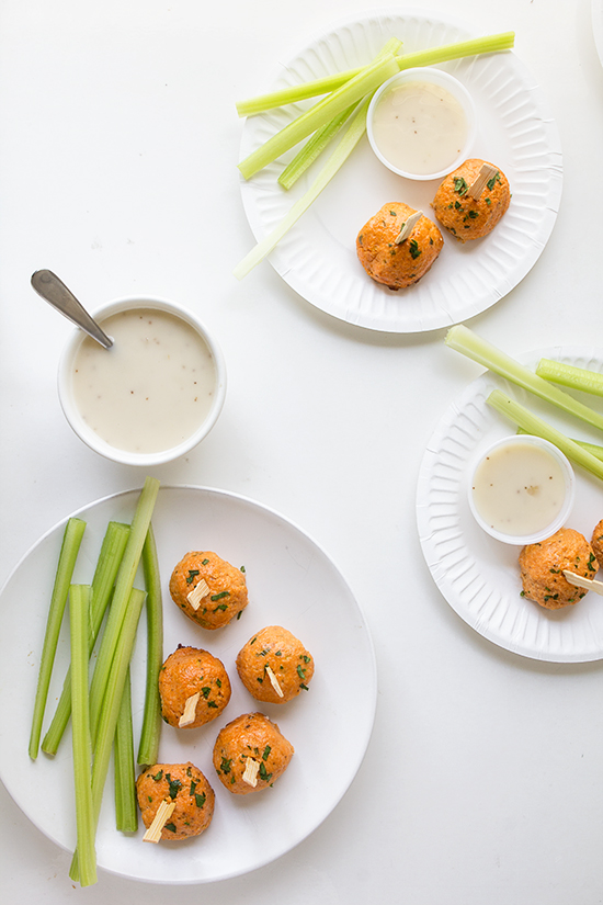 Buffalo Chicken Meatballs _ Real Food by Dad