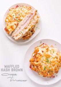 Waffled Hash Brown Croque Monsieur via Real Food by Dad