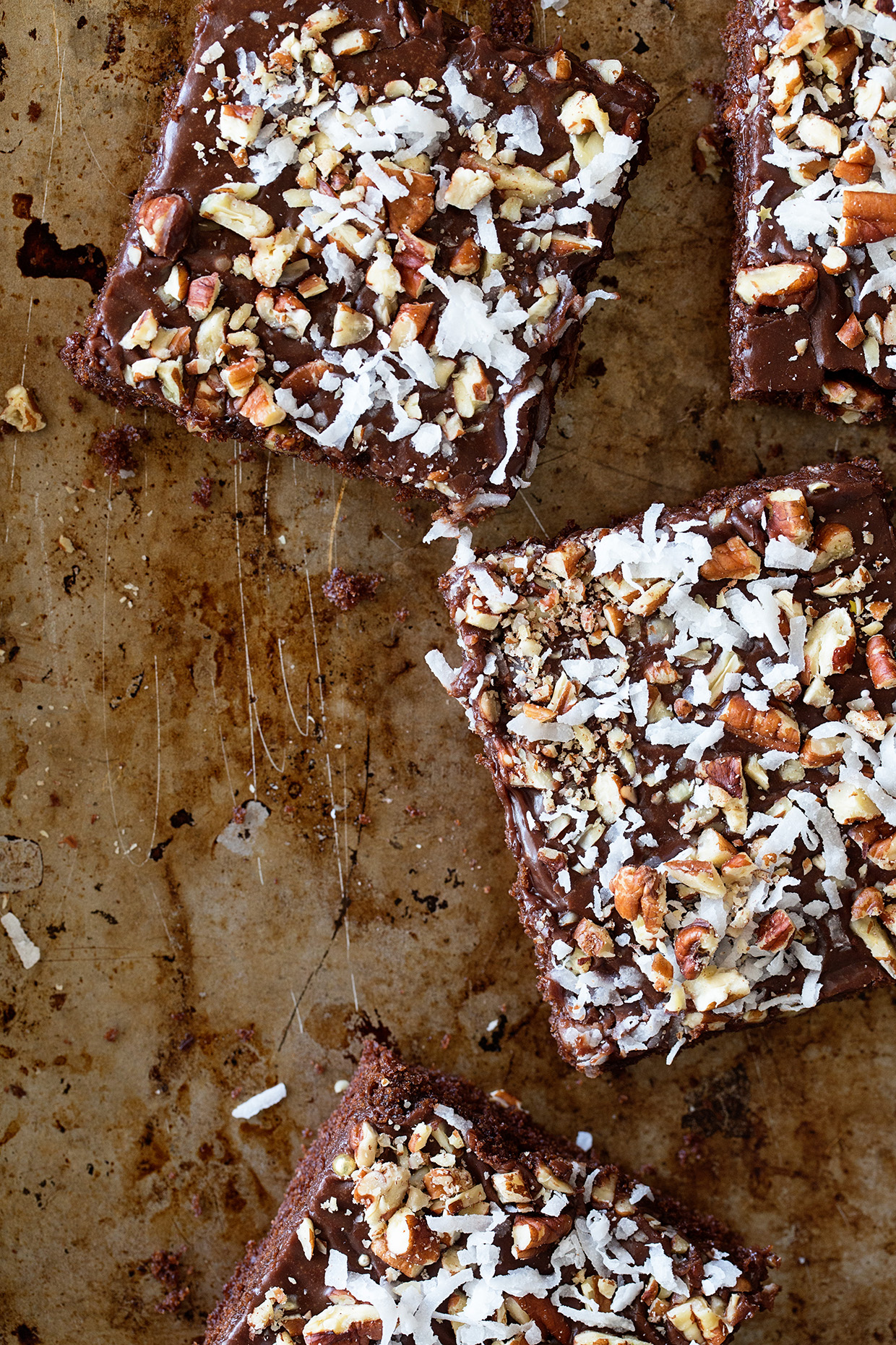 Chocolate Pecan and Coconut Sheet Cake - Real Food by Dad
