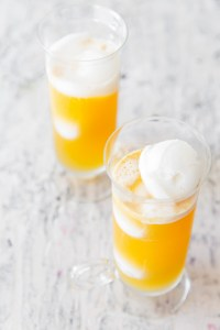 Peach Mango Sorbet Float Real Food by Dad