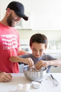Mini Chocolate Tarts Process Shot Cole egg cracking