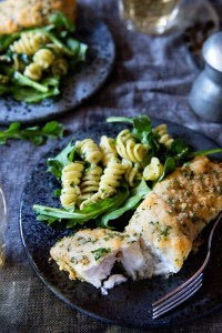 Parmesan Crusted Tilapia via Real Food by Dad
