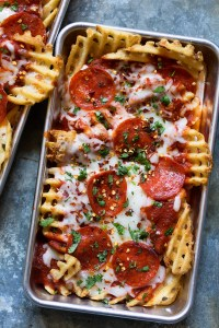 Waffled Pizza Fries Real Food by Dad