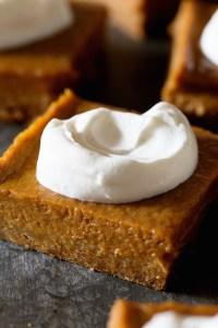 Pumpkin Pie Bars Real Food by Dad