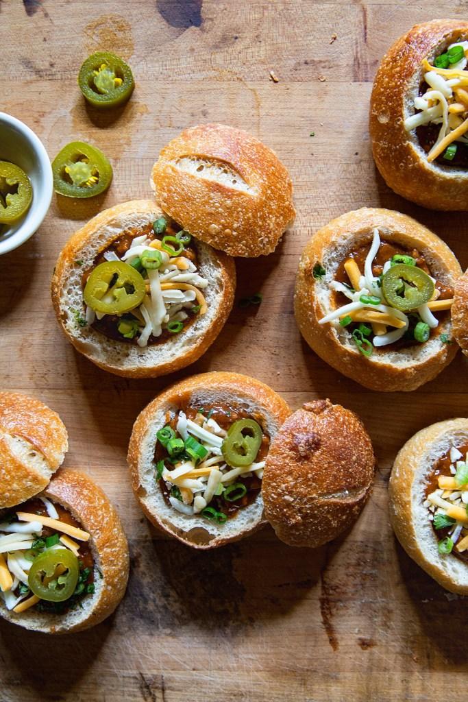 Mini Chili Bread Bowls