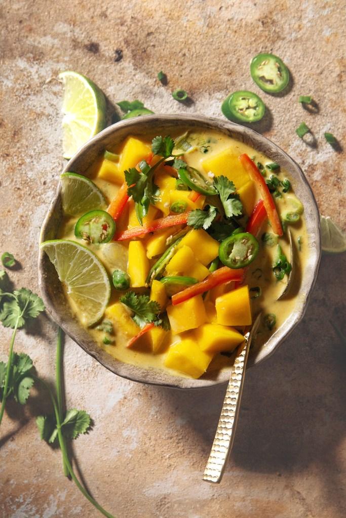 Mango Curry Soup via Real Food by Soup
