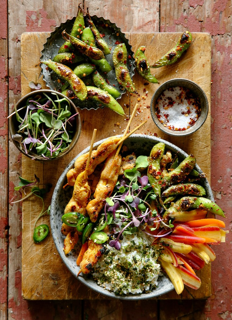 Chicken satay recipe chicken satay bowls real food by dad forumfinder Image collections