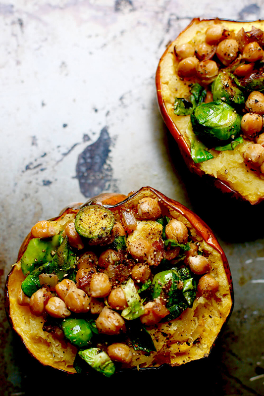 Visual Guide to Winter Squash l chickpea stuffed acorn squash