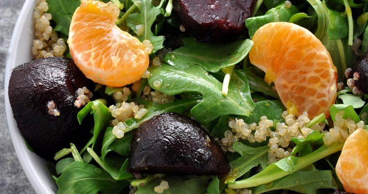 Pixie Tangerine and Baby Red Beet Salad with Citrus Vinaigrette
