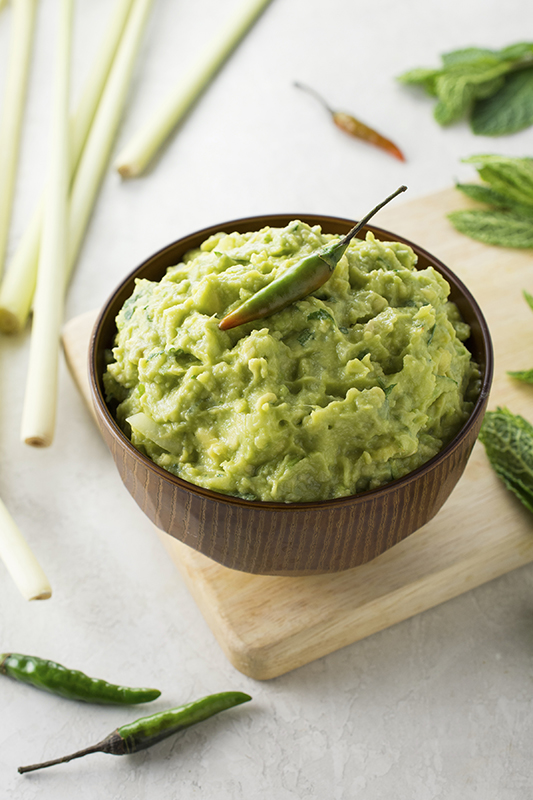Thai Guacamole with Lemongrass l thai guacamole with lemongrass thai chiles and mint