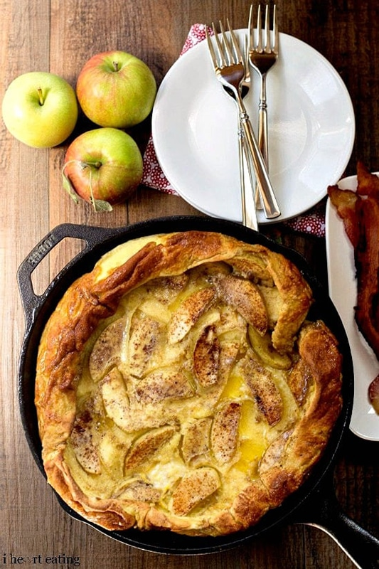 20+ Amazing Apple Recipes for Fall l caramel apple german pancakes