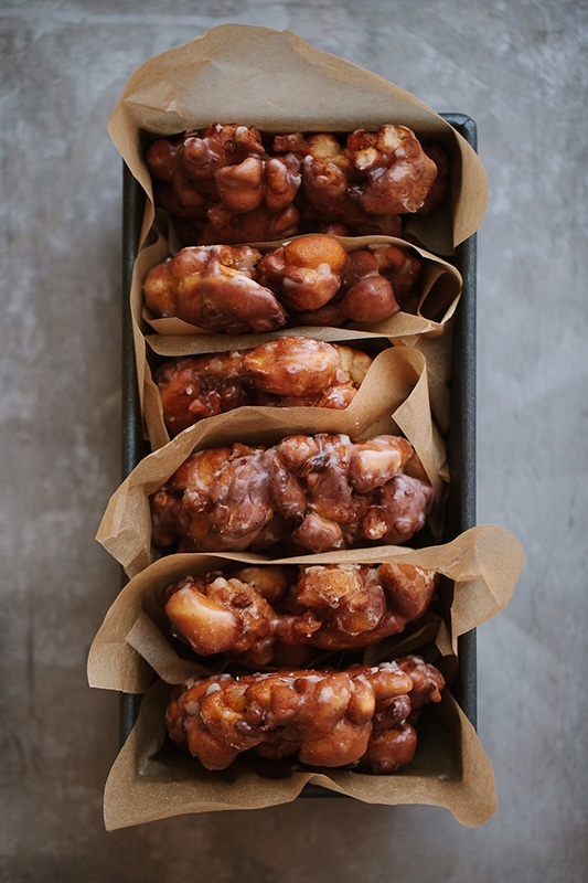 20+ Amazing Apple Recipes for Fall l apple pecan fritters with brown butter glaze
