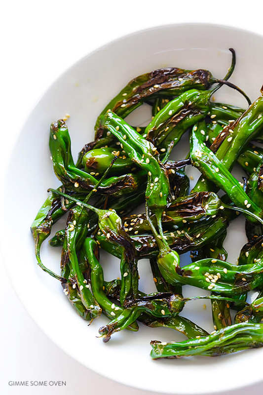 25 delicious ways to spice up National Pepper Month l easy sesame shishito peppers