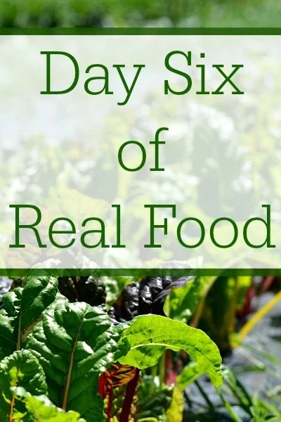 Day Six of Real Food