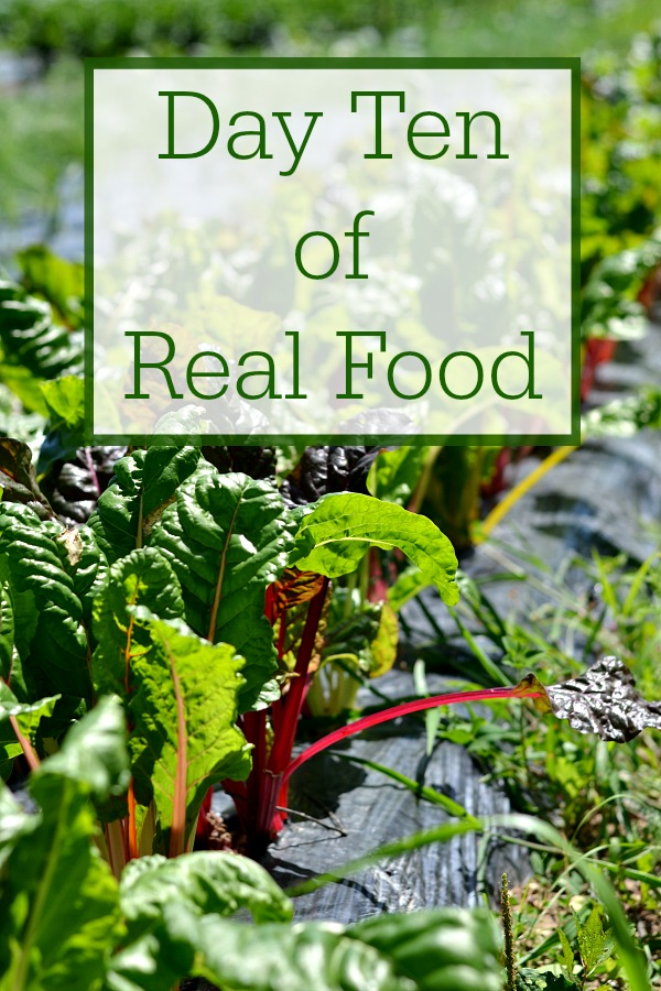 Day ten of real food included healthy snacks and meals that my family enjoyed. These recipes avoid processed sugar, white flour, and other processed food.