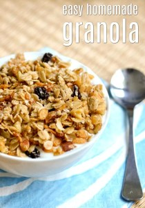 These easy granola recipes are great to have on hand for a healthy breakfast.