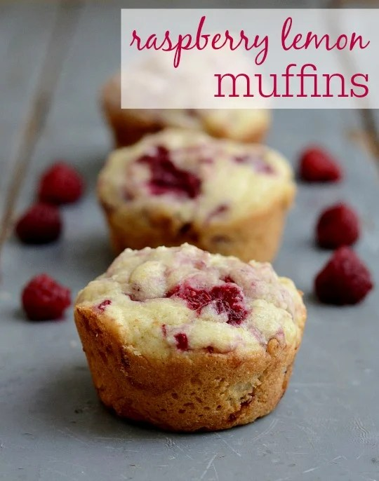 Raspberry lemon muffins, a delicious, healthy snack recipe from Real Food Real Deals. You have to try these!
