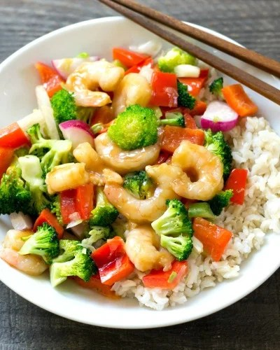 Shrimp and Broccoli Stir Fry