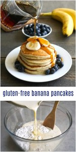 These delicious gluten free banana pancakes are a healthy breakfast to start your day. Such an easy recipe for any day of the week!