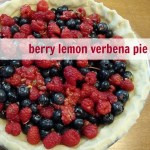 berry lemon verbena pie