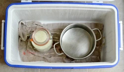 homemade yogurt cooler
