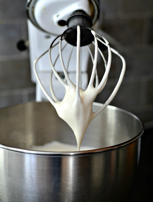 Homemade whipped cream, the perfect topping for peaches