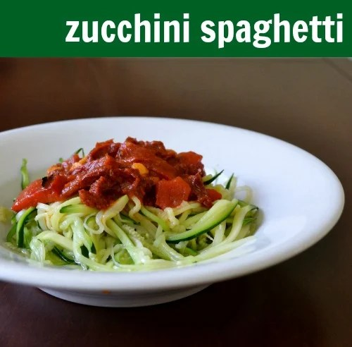 This zucchini spaghetti is a healthy, delicious, gluten-free alternative to pasta. You can make it ahead of time and freeze it for a busy night.