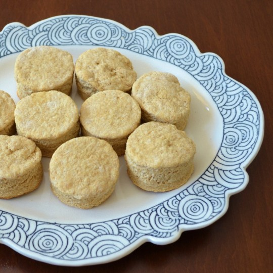 Whole wheat yogurt biscuits