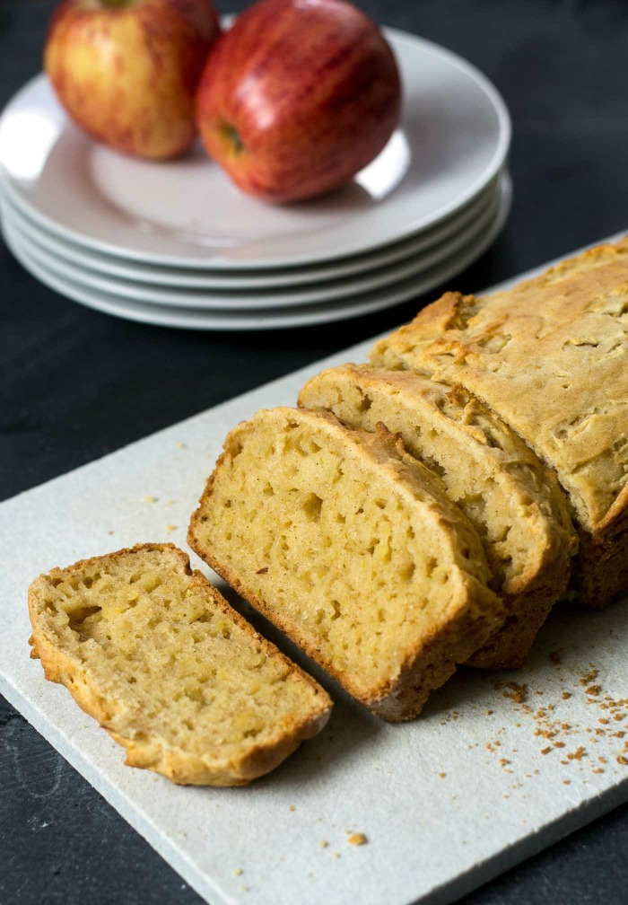 This apple cinnamon bread is a delicious, healthy snack that also makes a great breakfast. This easy recipe freezes well, too.