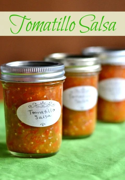 This tomatillo salsa is a delicious, healthy alternative to store-bought salsa verde. It's an easy recipe full of flavor and vegetables.