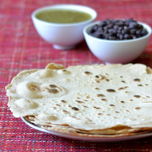 These whole wheat flour tortillas are a healthy alternative to the store-bought version with its trans fats and other additives.