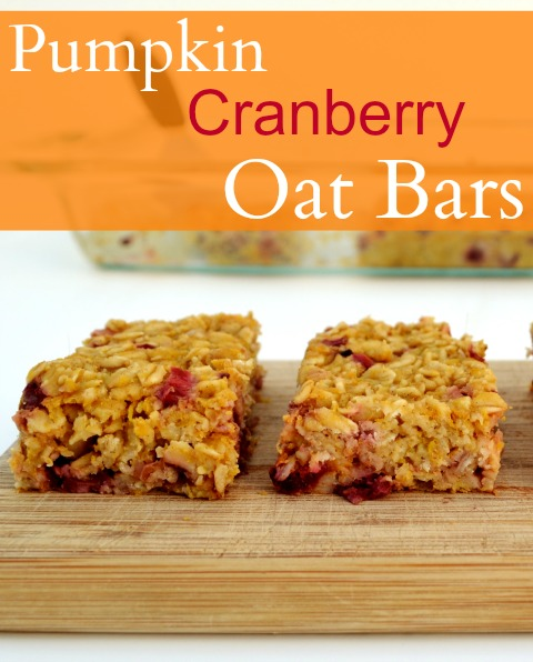 Pumpkin Cranberry Oat Bars are such a delicious, healthy fall snack. These are addictive! Recipe from Real Food Real Deals.